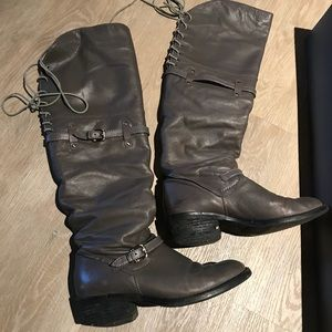 Vince Camuto pullup leather boots 6 m Burly Brown